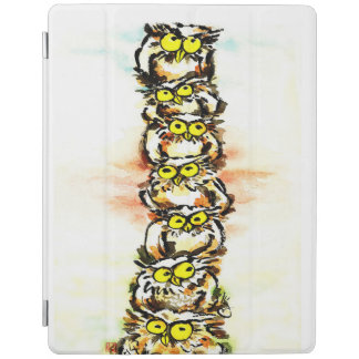 Happy owl family/the wax family which is wiped iPad cover
