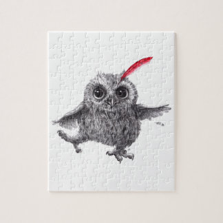 Happy Owl with talk Feather Puzzle