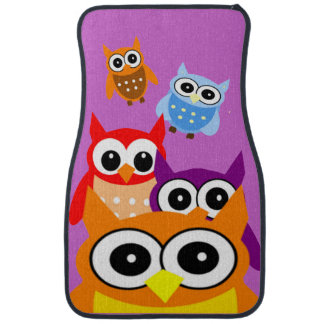 Happy Owls Car Mat Set of 4