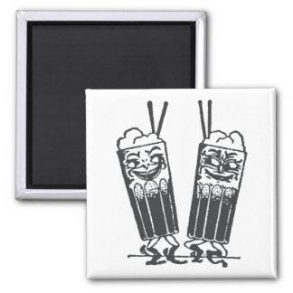 Happy Pair of Sodas Fridge Magnets