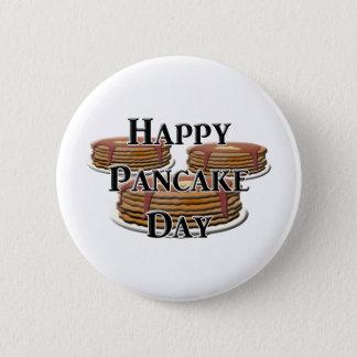 Happy Pancake Day 6 Cm Round Badge