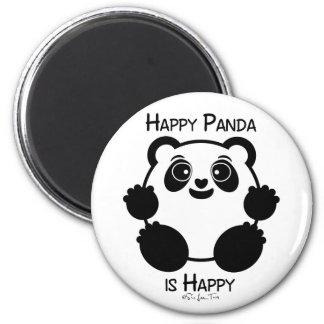 Happy Panda Refrigerator Magnet