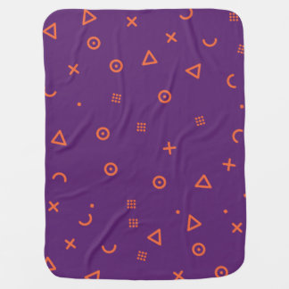 Happy Particles Purple Baby Blanket