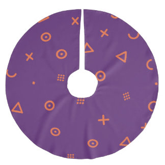 Happy Particles Purple Brushed Polyester Tree Skirt
