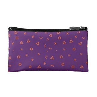 Happy Particles Purple Cosmetic Bag