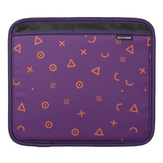 Happy Particles Purple iPad Sleeve
