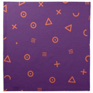 Happy Particles Purple Napkin