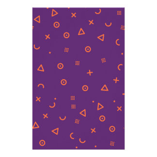 Happy Particles Purple Stationery
