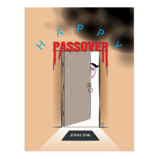Happy Passover Exodus Cartoon Greeting Postcard