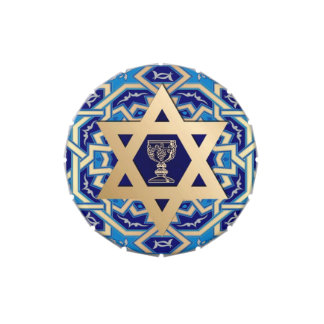 Happy Passover. Shalom at Pesach Candy Candy Tins