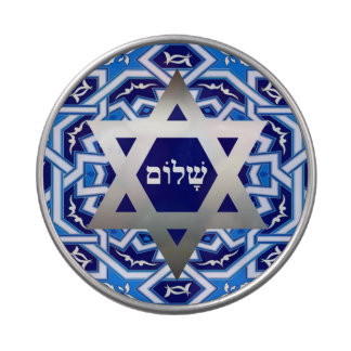 Happy Passover. Shalom at Pesach Candy Jelly Belly Candy Tin