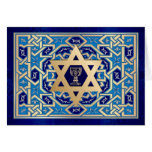 Happy Passover. Star of David and Kiddush Cup Card