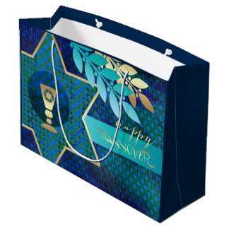 Happy Passover. Star of David & Kiddush Gift Bags
