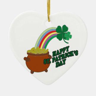 Happy Patrick s Day Ceramic Heart Decoration