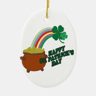 Happy Patrick s Day Ceramic Oval Decoration