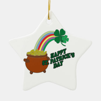 Happy Patrick s Day Ceramic Star Decoration