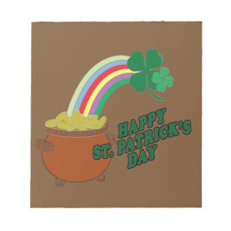 Happy Patrick s Day Notepad