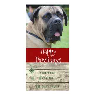 Happy Pawlidays | Pet Christmas Greeting Photo Card