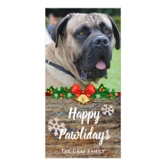 Happy Pawlidays | Pet Photo Christmas Card