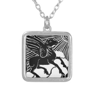happy Pegasus Silver Plated Necklace