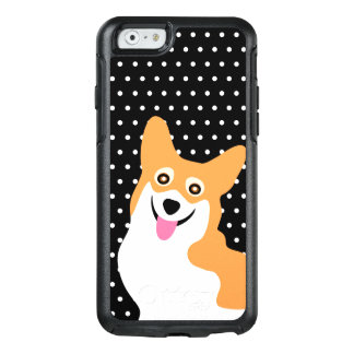 Happy Pembroke Welsh Corgi Puppy Polka Dot OtterBox iPhone 6/6s Case