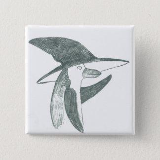 happy penguin button