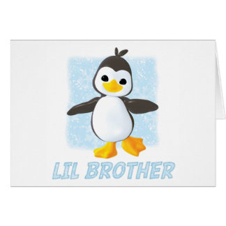 Happy Penguin Little Brother Card