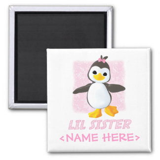 Happy Penguin Little Sister Magnet