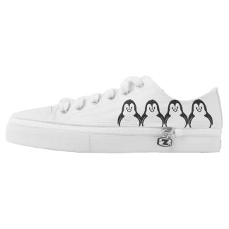 Happy Penguin Printed Shoes