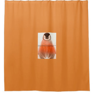 Happy Penguin Shower Curtain