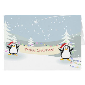 Happy Penguins Christmas Card