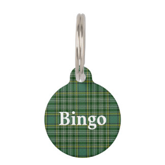 Happy Pet Clan Currie Tartan Plaid Pet Tag