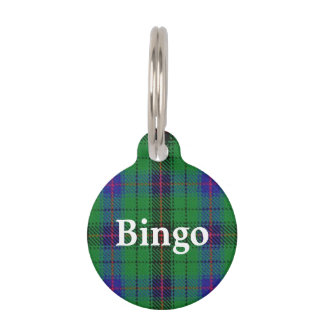 Happy Pet Clan Davidson Tartan Plaid Pet ID Tag
