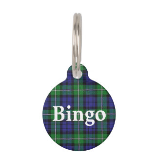 Happy Pet Clan Forbes Tartan Plaid Pet ID Tag