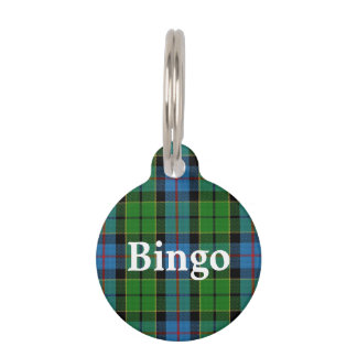 Happy Pet Clan Forsyth Tartan Plaid Pet ID Tag