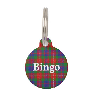 Happy Pet Clan Fraser of Lovat Tartan Plaid Pet ID Tag