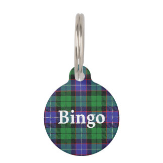 Happy Pet Clan Galbraith Tartan Plaid Pet Tag