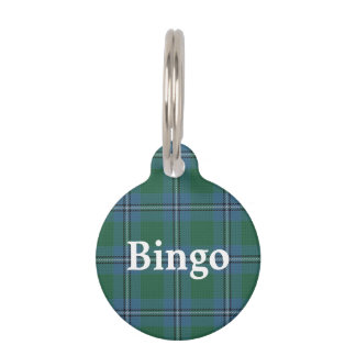 Happy Pet Clan Irvine Irwin Tartan Plaid Pet ID Tag