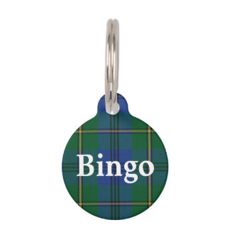 Happy Pet Clan Johnstone Johnston Tartan Plaid Pet Tag