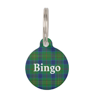 Happy Pet Clan Kennedy Tartan Plaid Pet Name Tag
