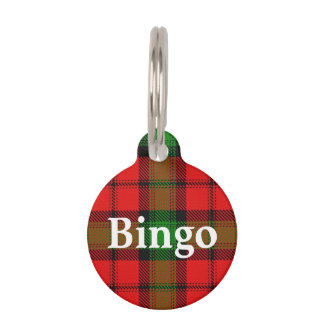 Happy Pet Clan Kerr Tartan Plaid Pet ID Tag