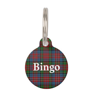 Happy Pet Clan Kidd Tartan Plaid Pet Name Tag