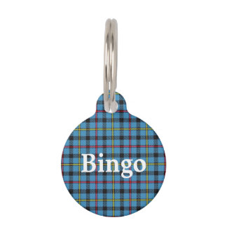 Happy Pet Clan MacCrimmon Tartan Plaid Pet Tag