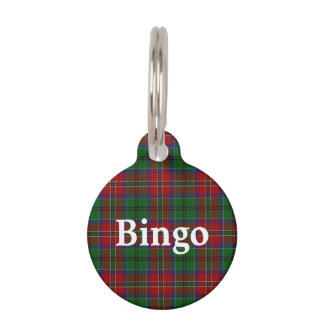 Happy Pet Clan MacCulloch Tartan Plaid Pet Name Tag