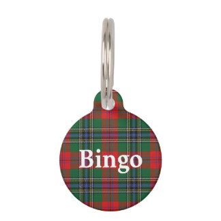 Happy Pet Clan MacLean Tartan Plaid Pet Tag