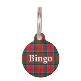 Happy Pet Clan MacNaughton MacNachtan Tartan Plaid Pet Name Tag