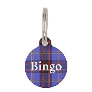 Happy Pet Clan Rutherford Tartan Plaid Pet Name Tag