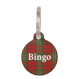 Happy Pet Clan Scott Tartan Plaid Pet Name Tag