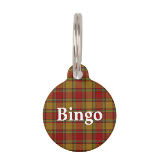 Happy Pet Clan Scrymgeour Tartan Plaid Pet ID Tag