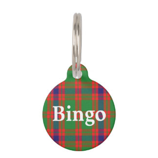 Happy Pet Clan Skene Tartan Plaid Pet Tag